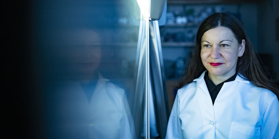 Bioengineering professor Bojana Gligorijevic in her lab at Temple