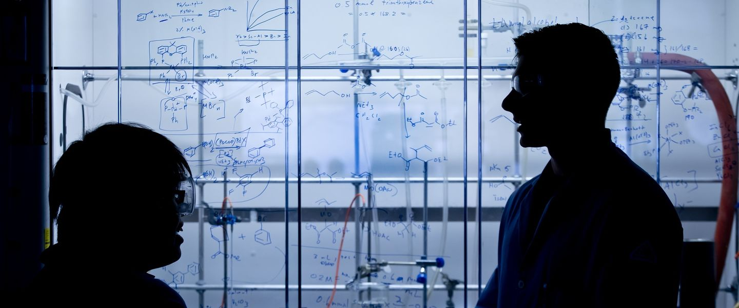 Profiles of a student and faculty member in a lab