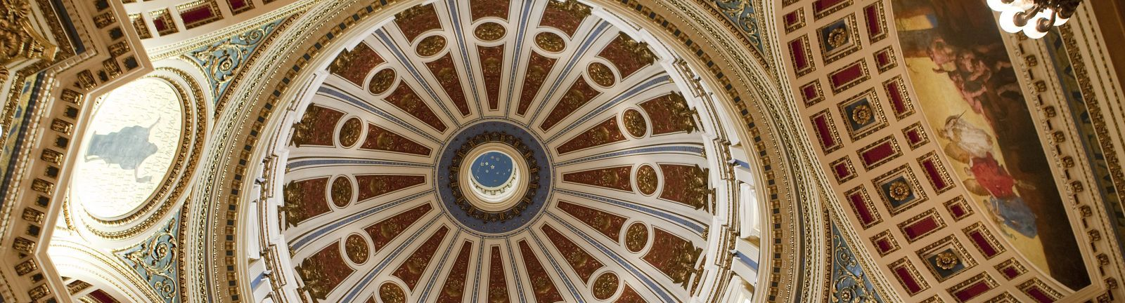 An interior view of the Pennsylvania capitol building dome in Harrisburg