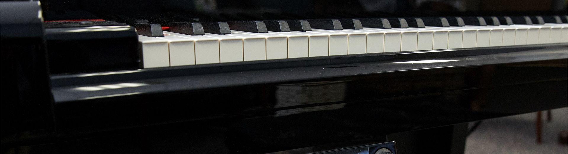 A Yamaha piano in a classroom