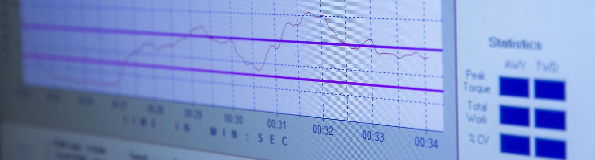 health data on a screen