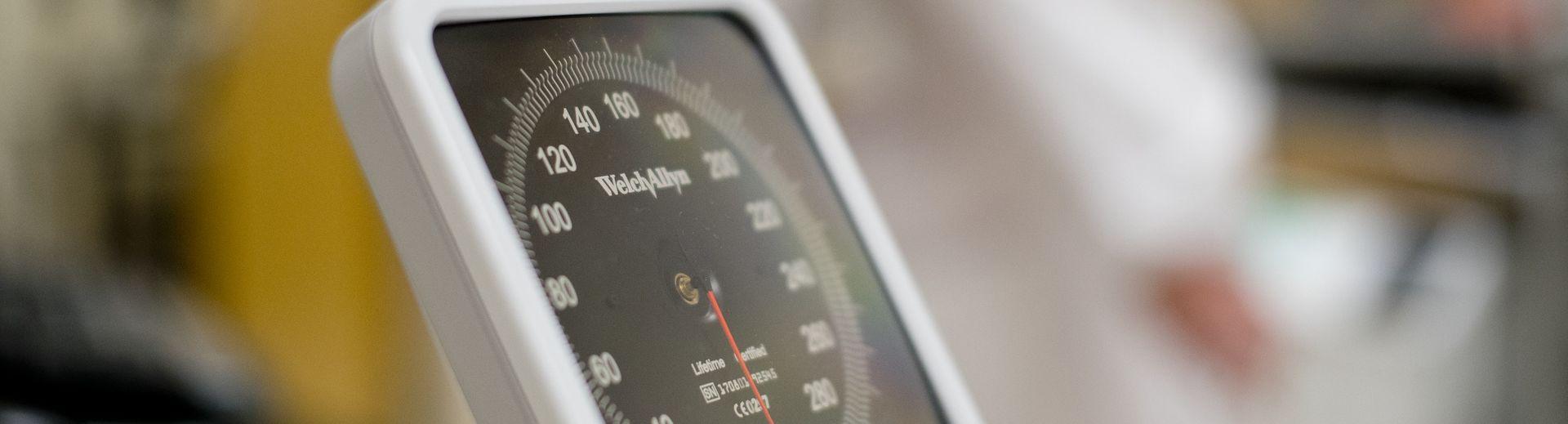 A blood pressure gauge