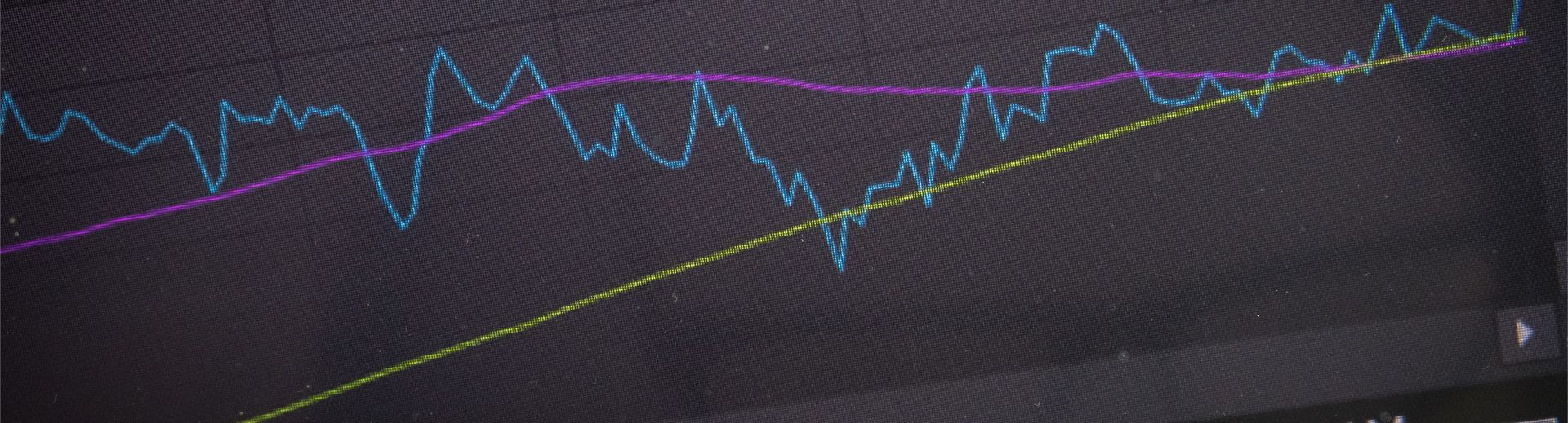 A line graph depicting data on a computer screen.