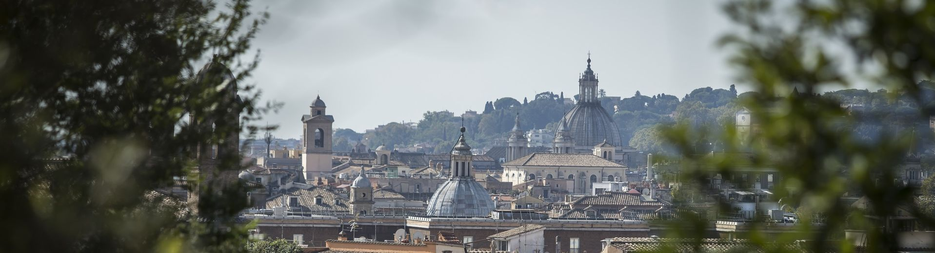 A view of city rooftops in Italy.