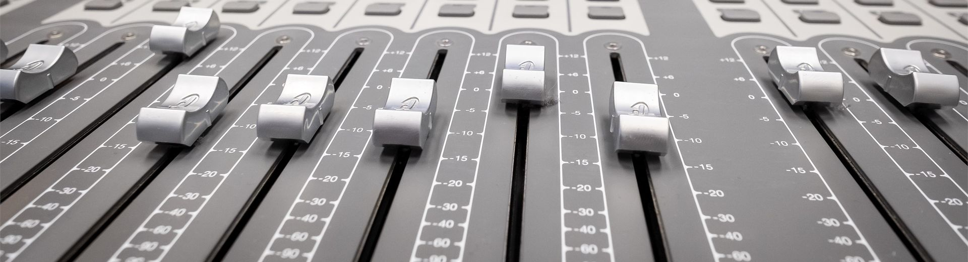 Music mixing control panel.
