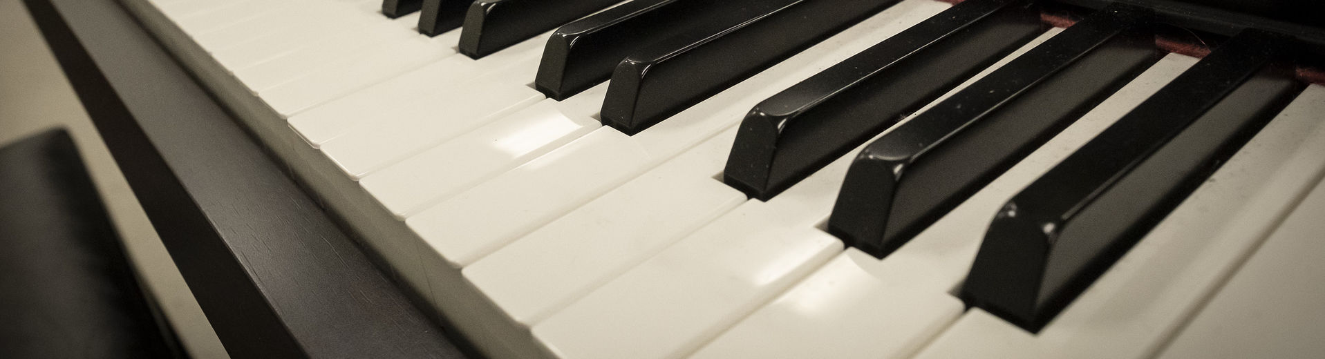 The keyboard of electric piano