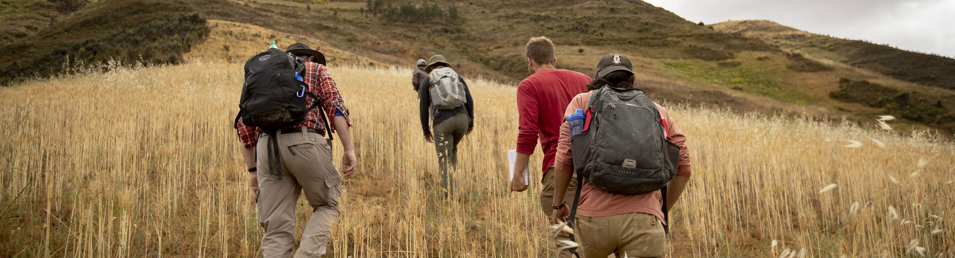 College of Liberal Arts students hiking in Latin America