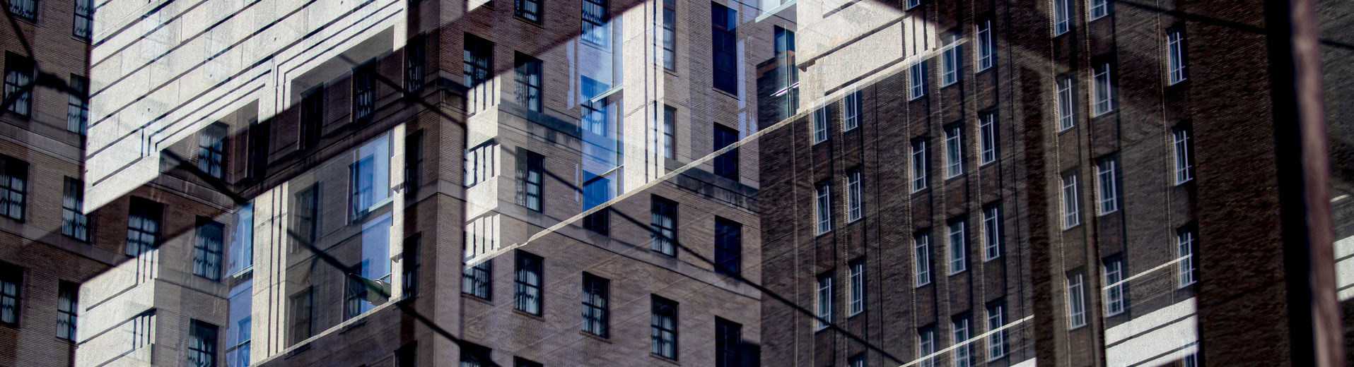 abstract image of buildings in Center City.