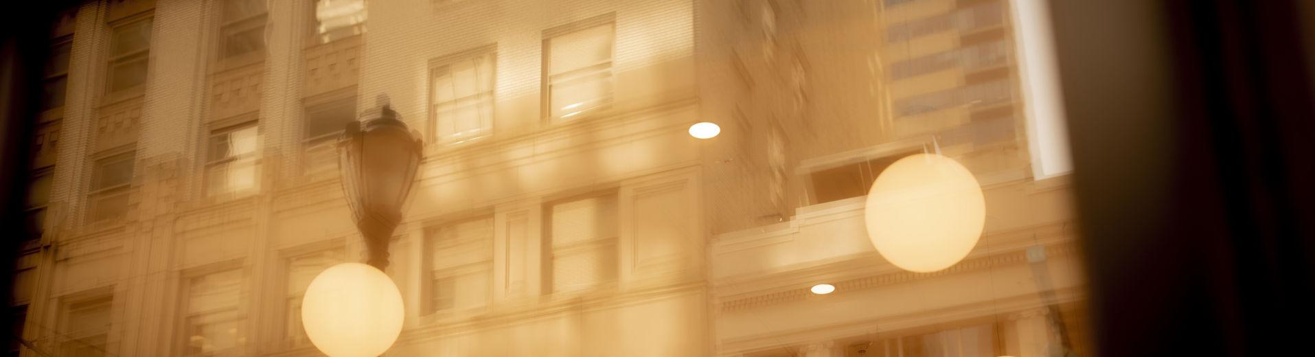 abstract image of downtown Philadelphia.