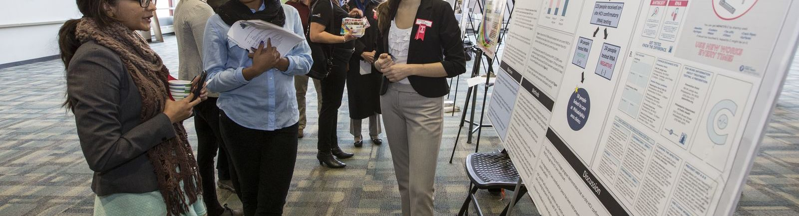 College of Public Health students share research findings with the public.