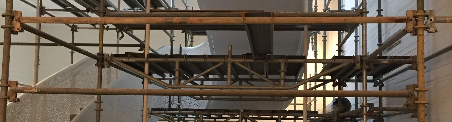 Construction scaffolding equipment