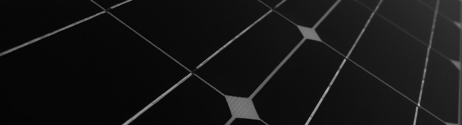 Solar panel black and white texture