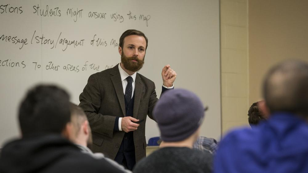 Secondary Education Professor teaching a class