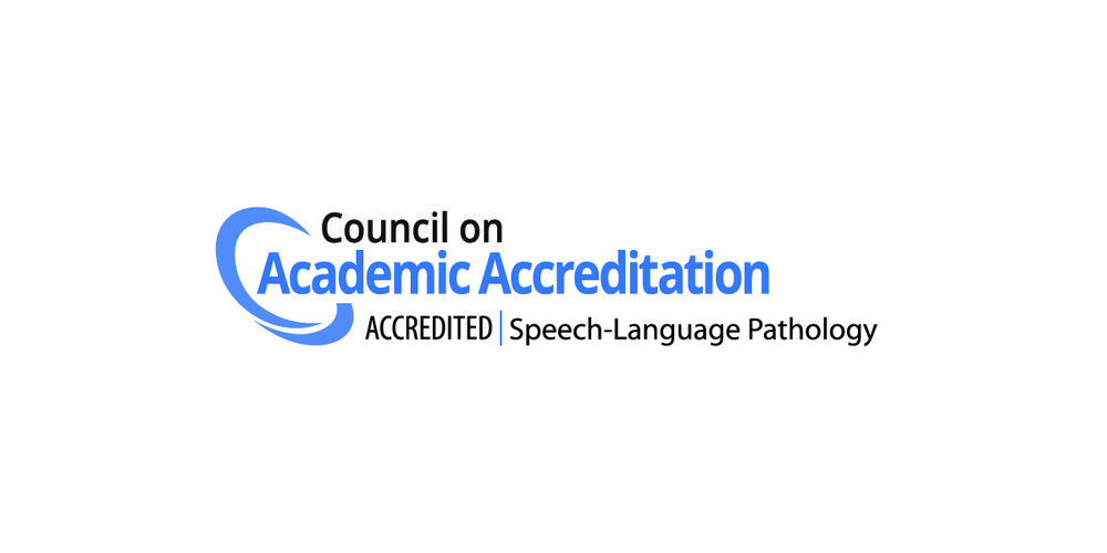 Logo for the Council on Academic Accreditation in Audiology and Speech Language Pathology (CAA) of the American Speech-Language-Hearing Association (ASHA).
